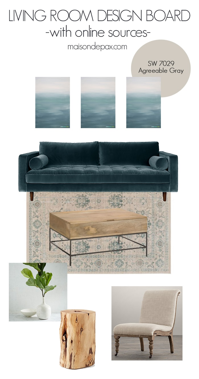 Traditional Modern Living Room Design - Maison de Pax