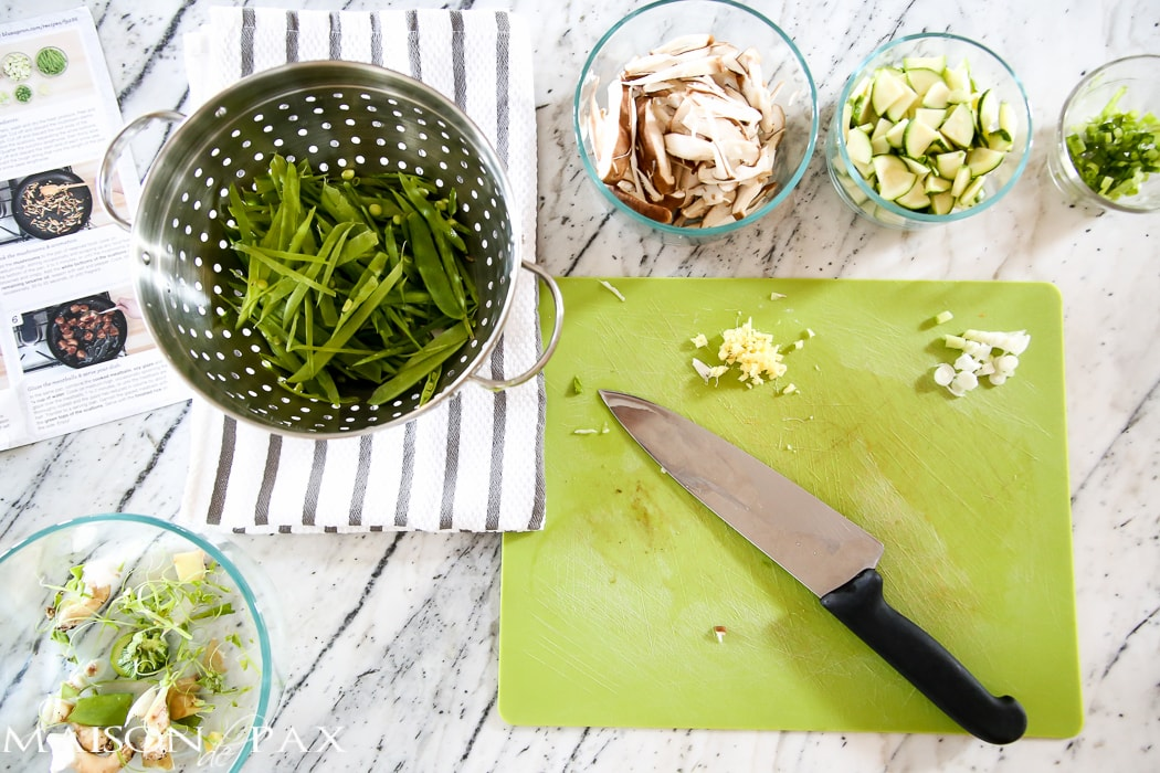 Reclaiming Family Meal Time: gorgeous, fresh ingredients from Blue Apron