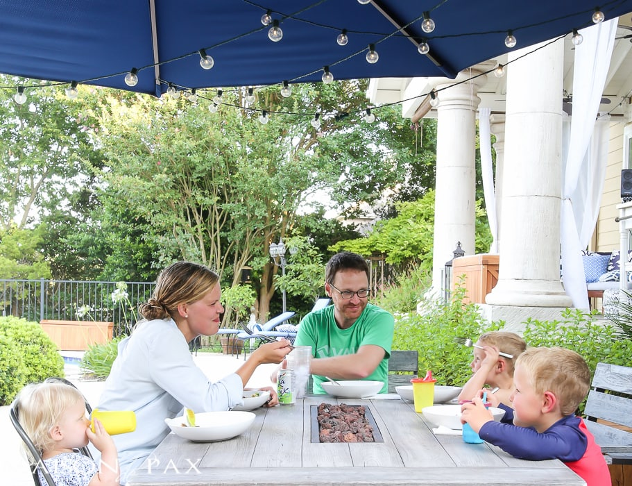 Reclaiming Family Meal Time: kids love the fresh ingredients from Blue Apron
