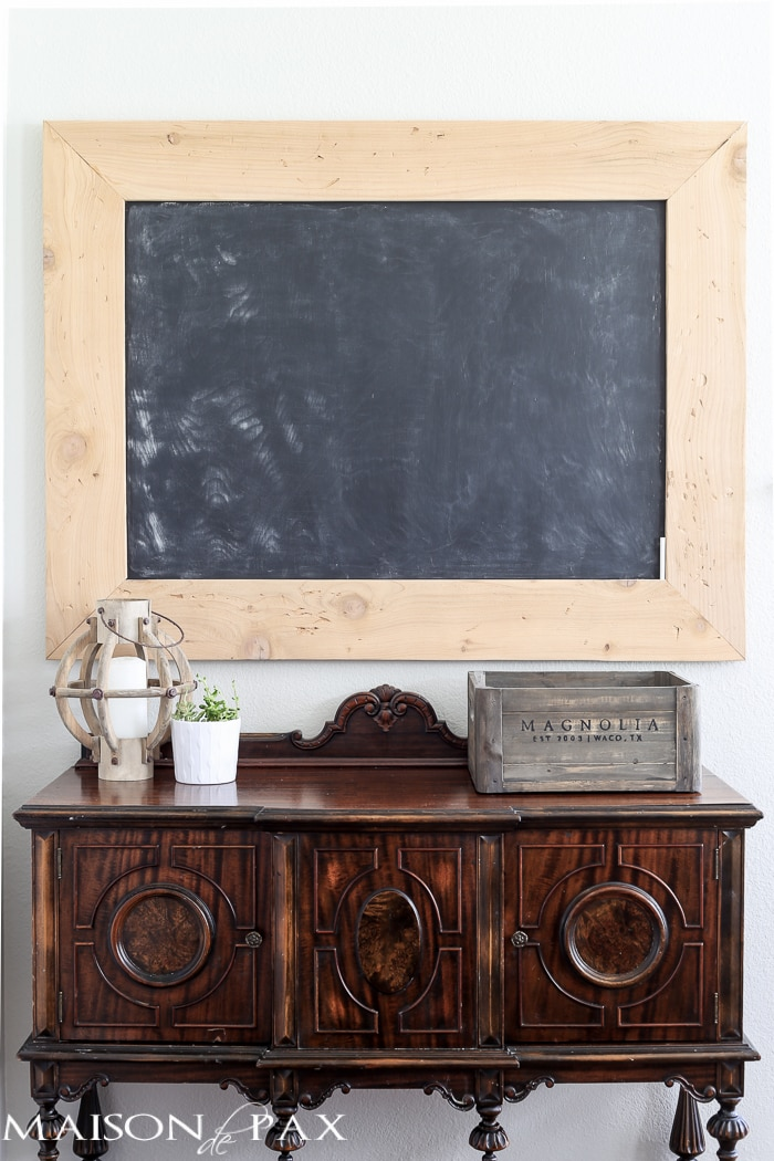 Tips on creating a homework space: love the vintage looking chalkboard