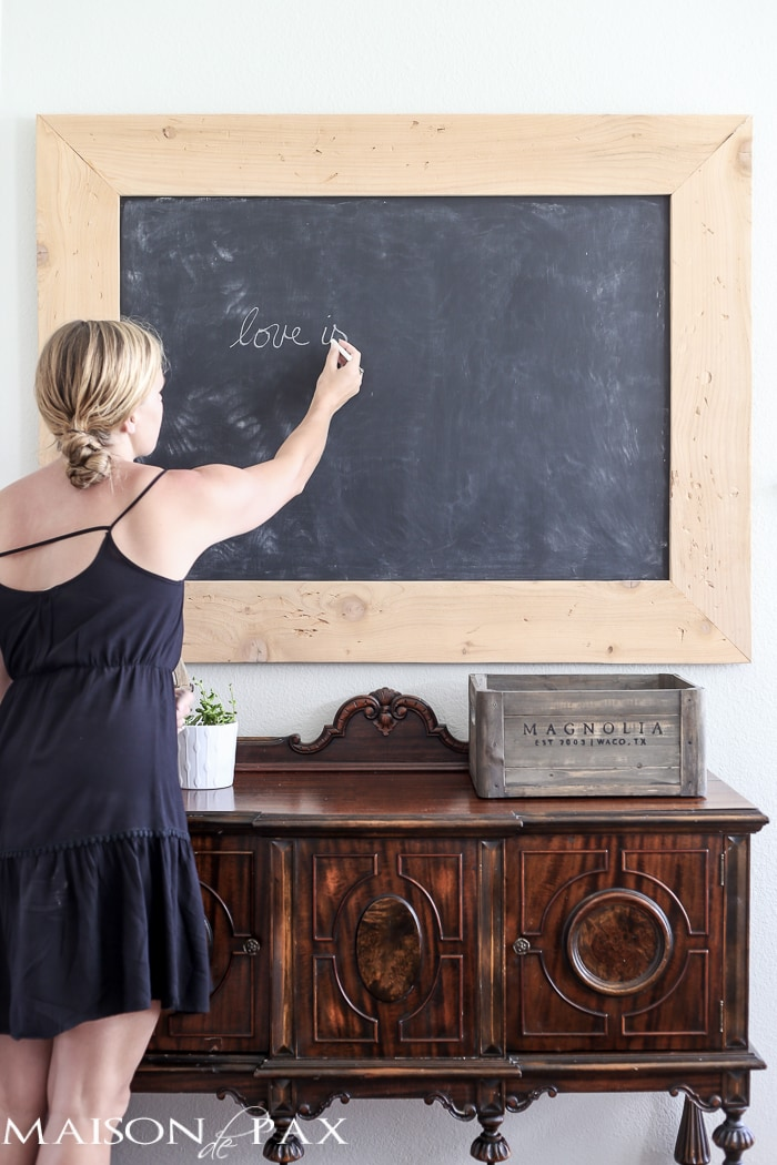 love the vintage look of this old school chalkboard