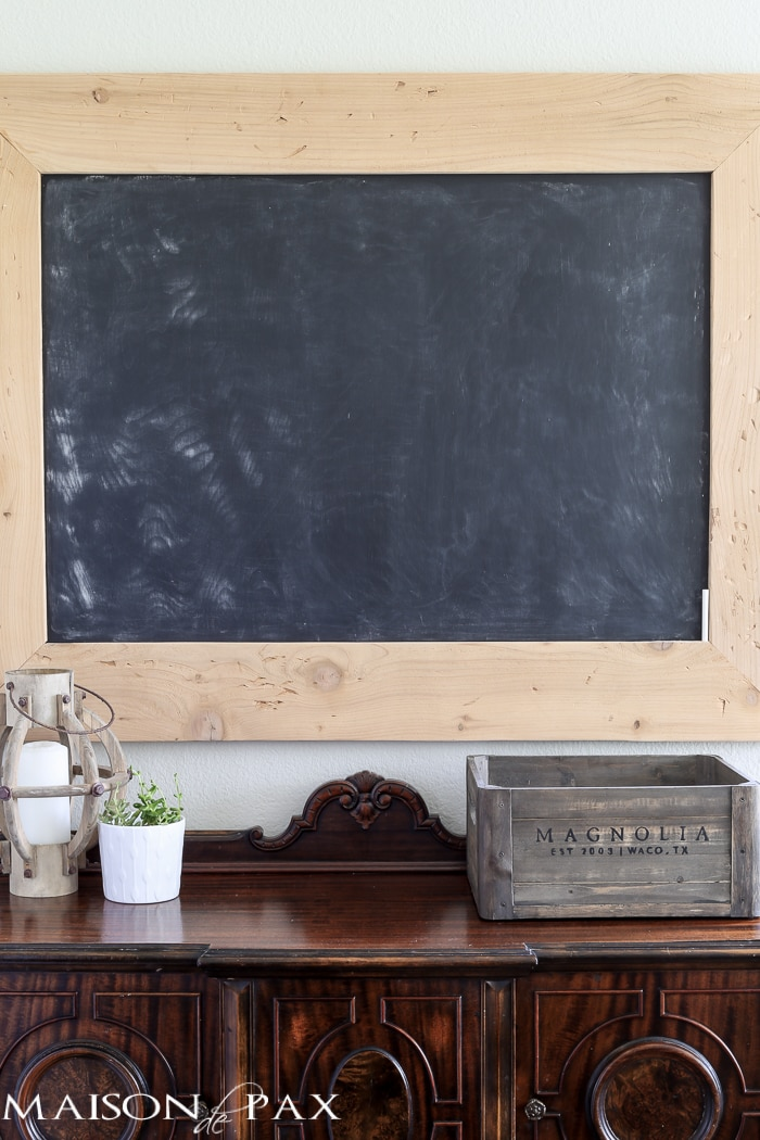 learn how to build a huge chalkboard like this for less than $20!