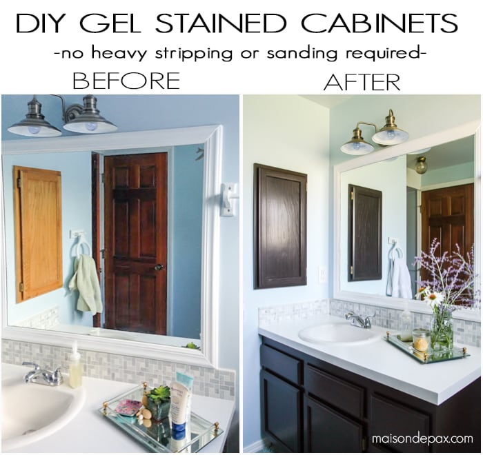 Before And After Gel Stained Cabinets Maison De Pax
