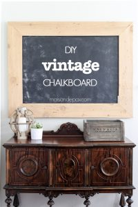 DIY Giant Chalkboard with a Vintage Schoolroom Look
