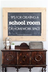 Tips for Creating a Homework Space