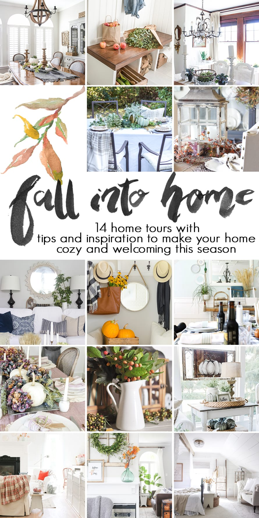 fall decor ideas: 14 blogger fall home tours with tips and inspiration for a cozy, welcoming home this autumn