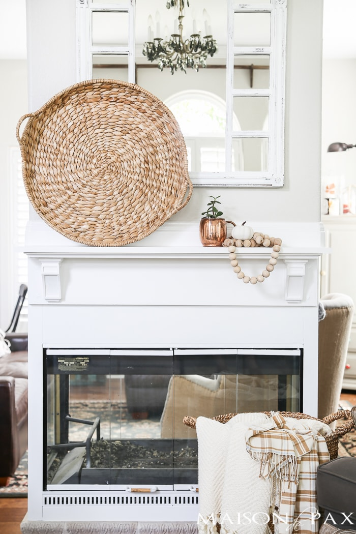 White Fireplace decor- Maison de Pax