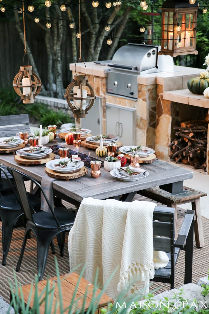 Outdoor Fall Dining Table- Maison de Pax