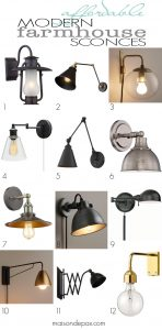 Affordable Modern Farmhouse Sconces
