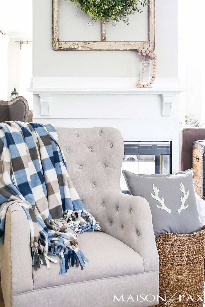 Chair with DIY Flannel Blanket- Maison de Pax