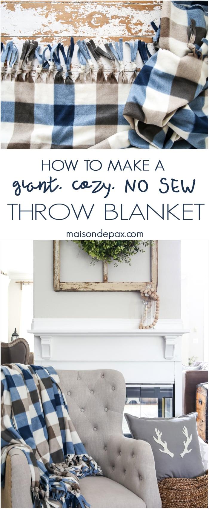Cozy no sew blanket- Maison de Pax