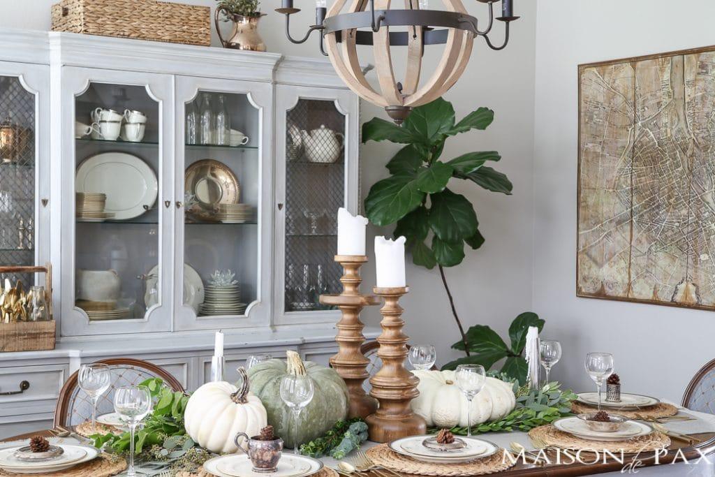 Elegant Thanksgiving Tablesetting- Maison de Pax