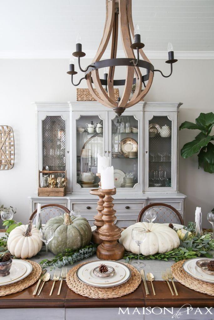 Fall dining room decor- Maison de Pax