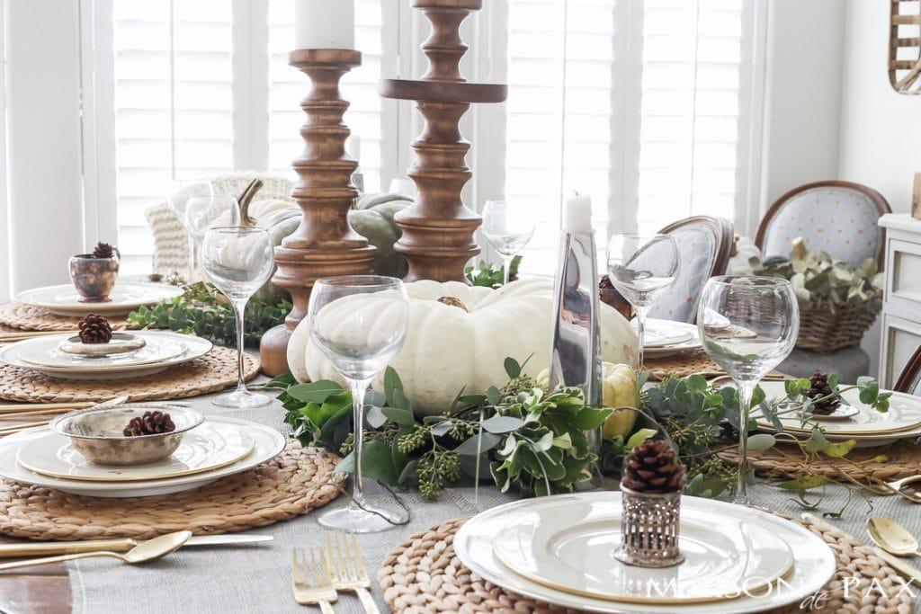 Thanksgiving table decor- Maison de Pax