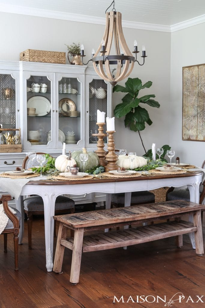 French style dining room decorating for fall- Maison de Pax