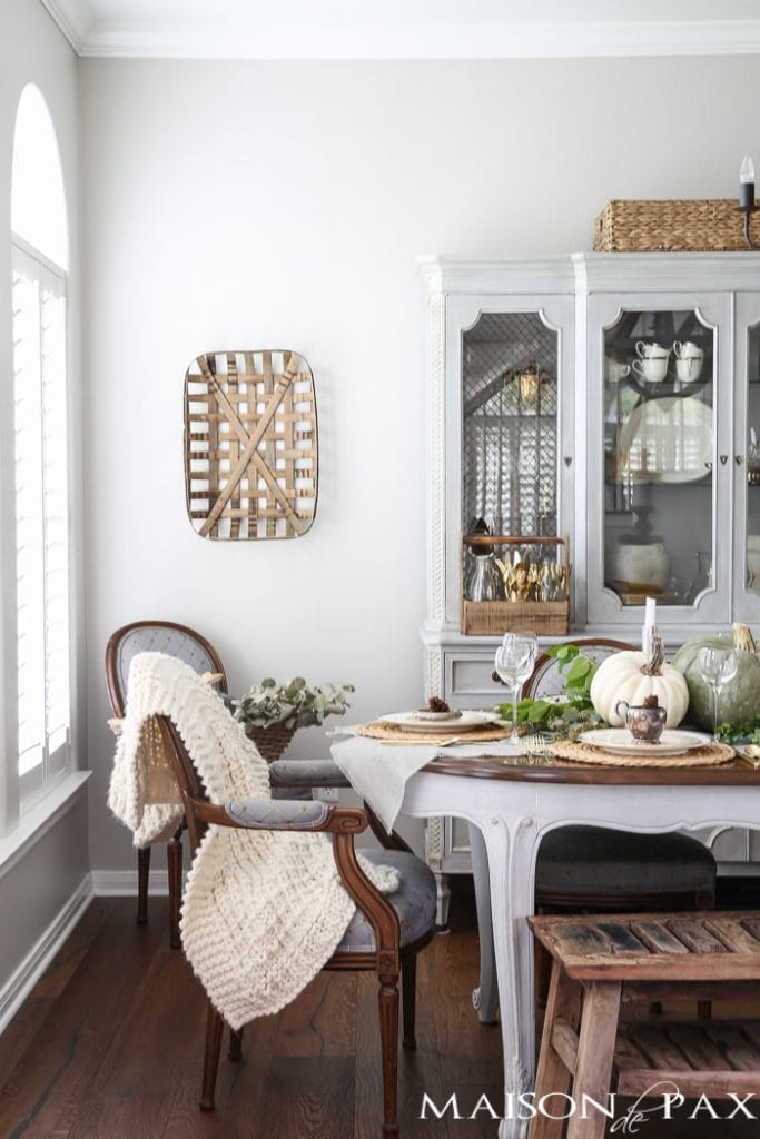 Chalk painted Dining Room Furniture- Maison de Pax