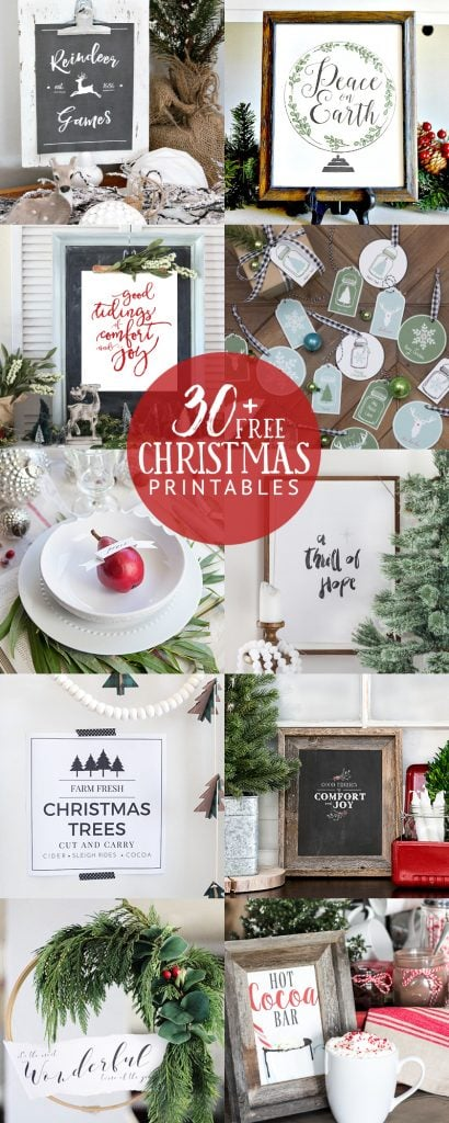 30 Christmas printables from bloggers- Maison de Pax