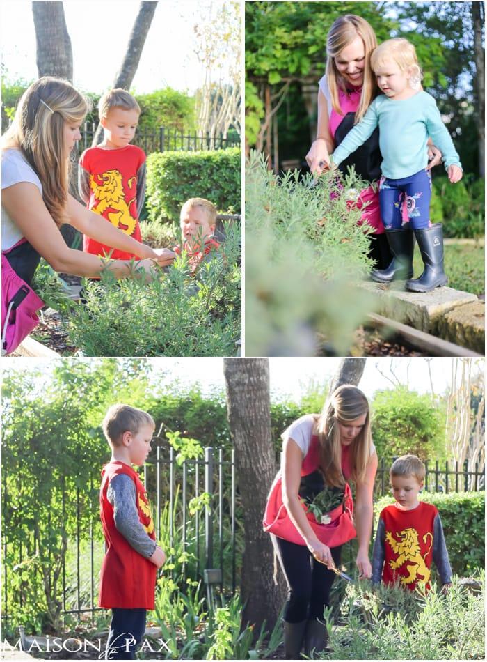 Gardening with children- Maison de Pax