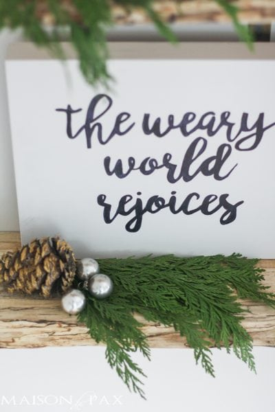 Free Christmas Printables: Thrill of Hope and Weary World Rejoices