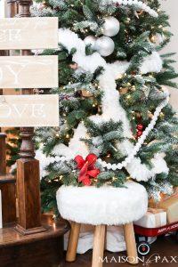 Red and White Winter Wonderland Christmas Tree