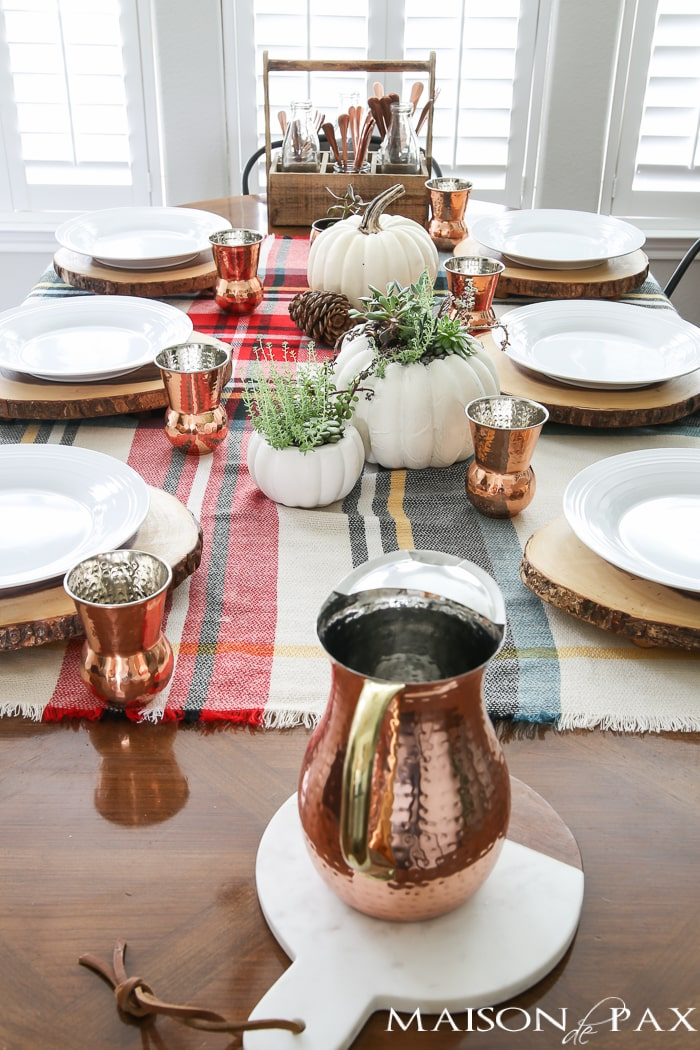 Rustic Thanksgiving Centerpiece- Maison de Pax