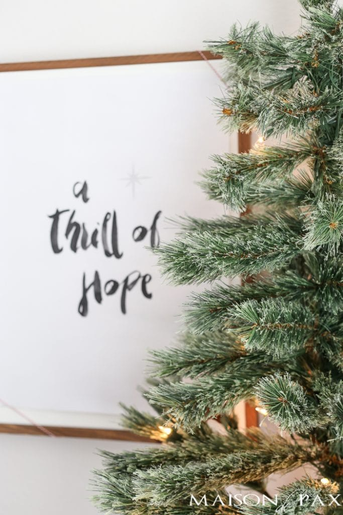 Joy to the world printable and thrill of hope lyrics- Maison de Pax