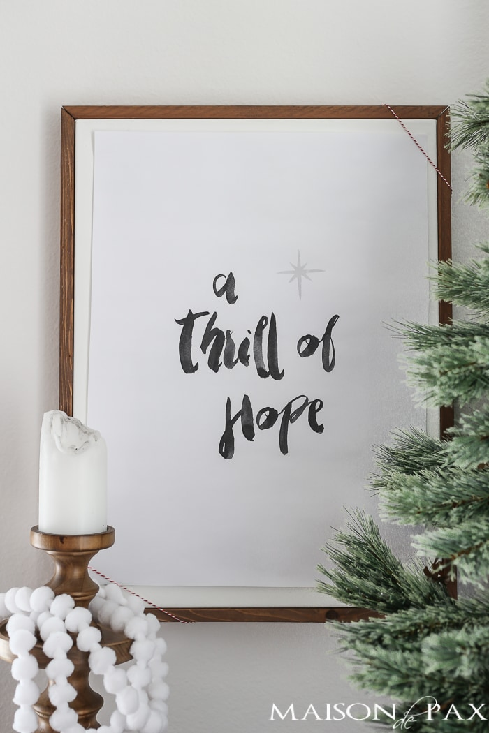 Thrill of Hope free Christmas printable | Maison de Pax