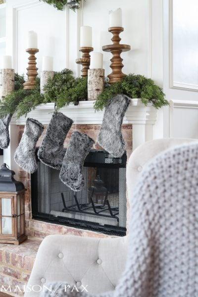Winter Woodland Christmas Mantel