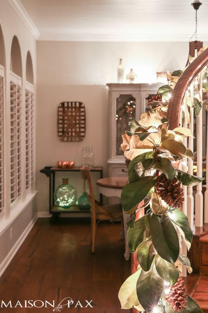 Magnolia leaf Christmas garland- Maison de Pax