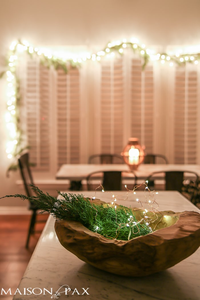 Bowl with Christmas lights- Maison de Pax