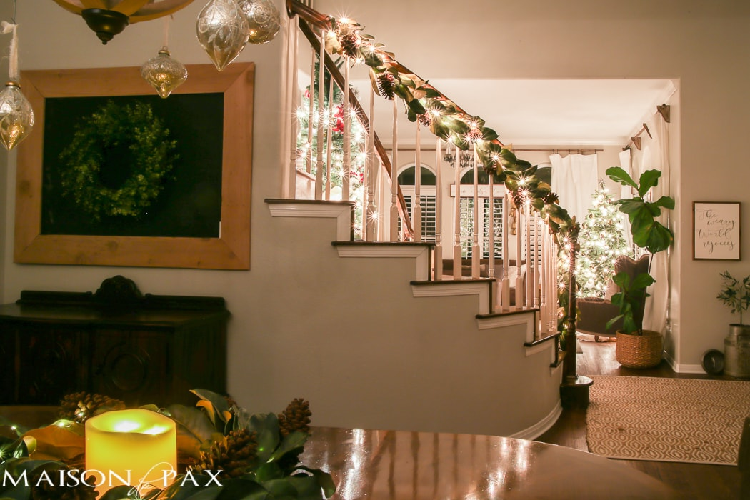 Christmas stairs- Maison de Pax