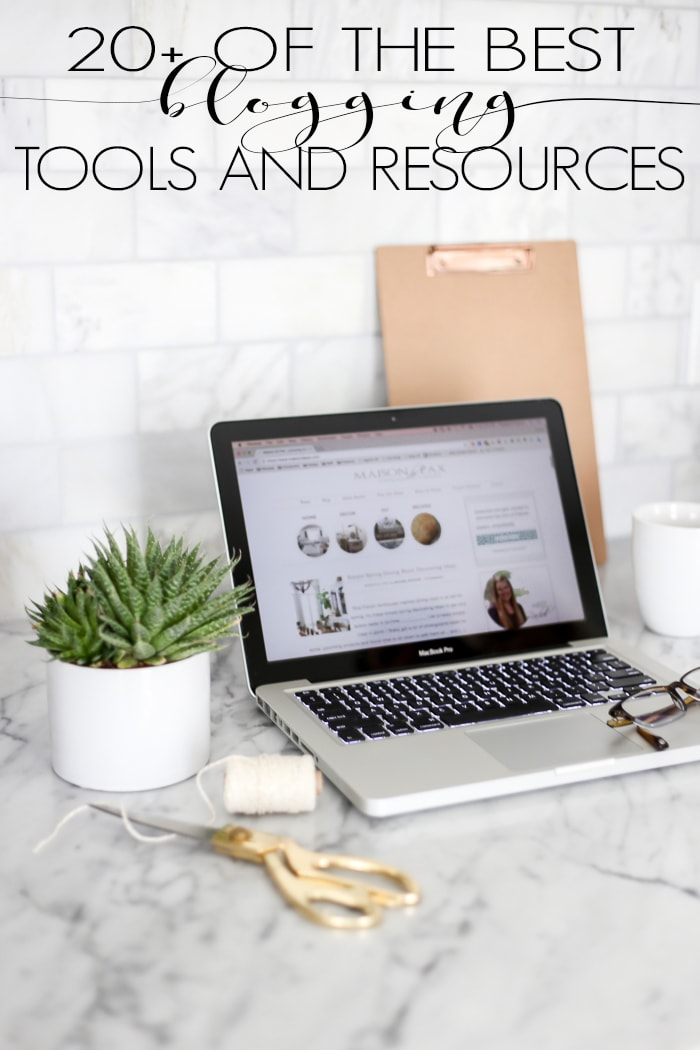 Considering starting a blog or hoping to take yours to the next level? There are so many tools and resources out there... Where do you even start? Here are 20+ of the best blogger tools and resources for starting and running a blog.