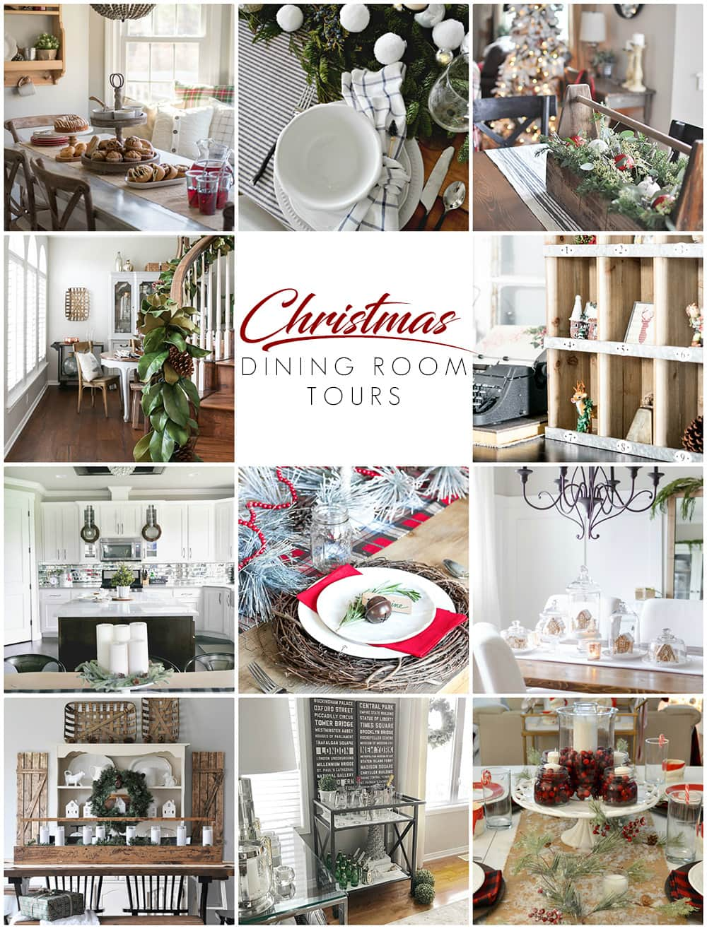 Beautiful dining rooms decorated for the holidays... so many Christmas dining room decorating ideas!