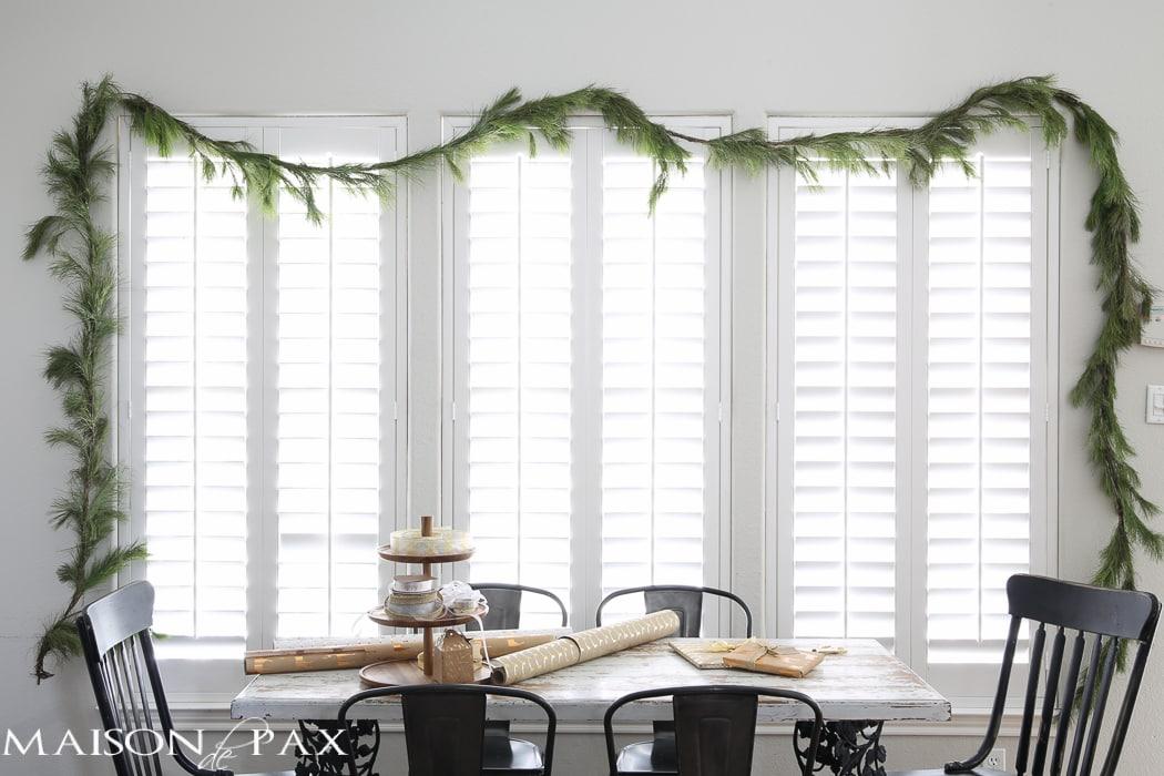 Shutter white window in dining area- Maison de Pax