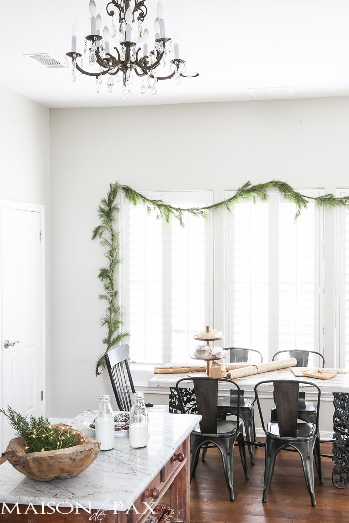 Christmas decorated dining area- Maison de Pax