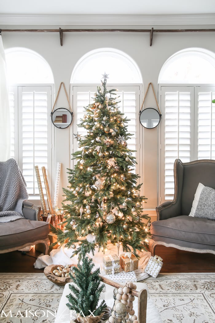 Green And White Christmas Decorating Ideas So Many Lovely Natural Greenery Cozy Neutral Decorations