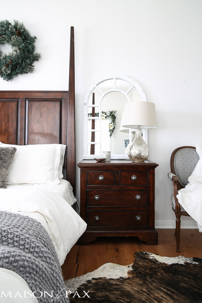 White Christmas Master Bedroom