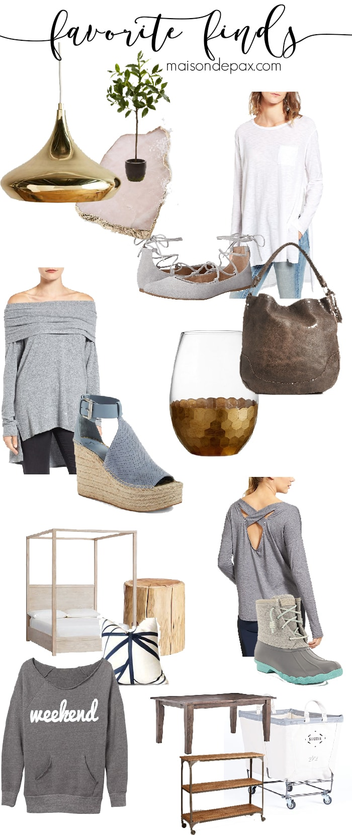 Casually elegant items and accessories for fashion, home decor, and more!
