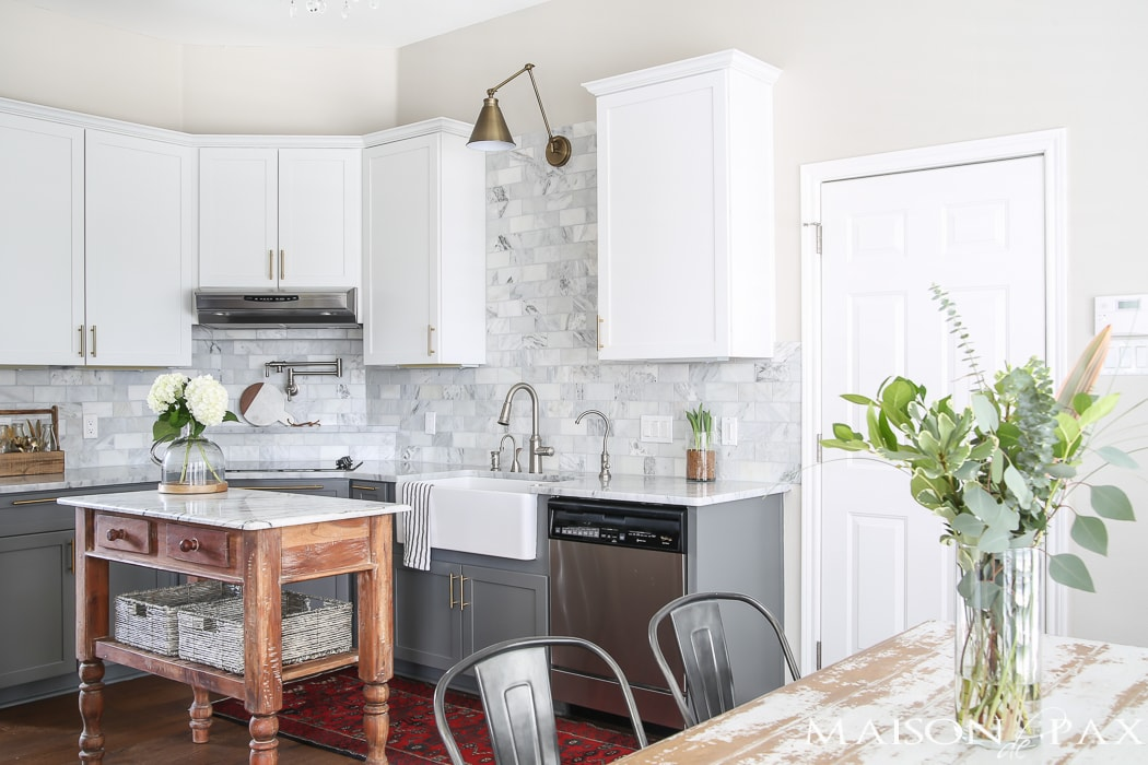 White and Gray Kitchen Reveal- Maison de Pax