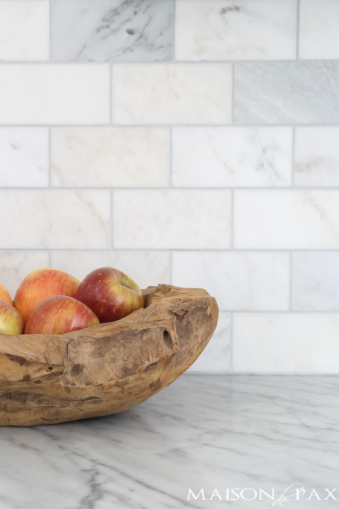 Marble subway tile- Maison de Pax