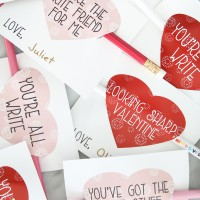 Pencil Sayings: Free Printable Valentines for Kids