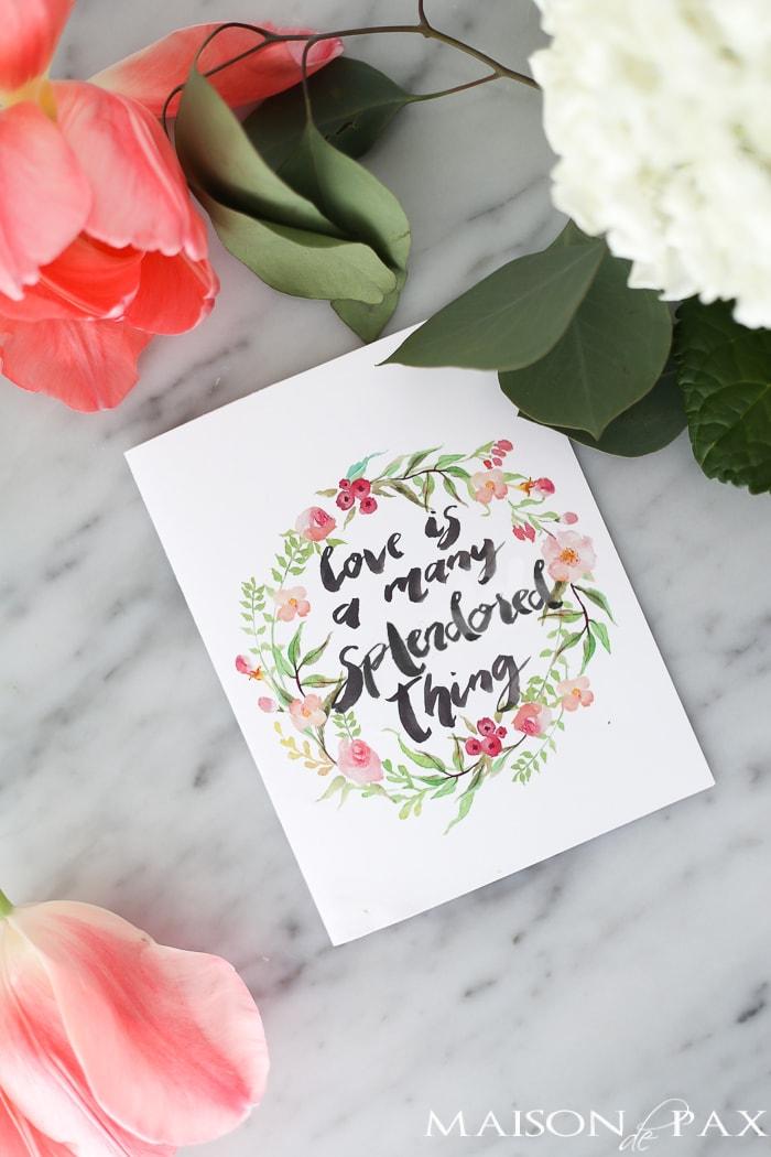 Free printable Valentine's Day Card- Maison de Pax