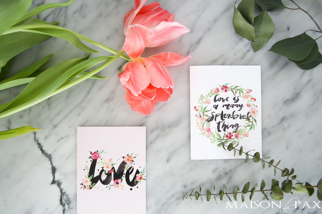 Valentine's Day Card Printables- Maison de Pax