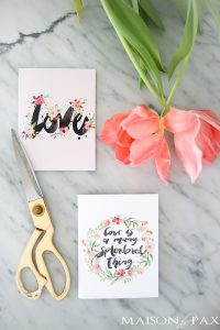 Free Printable Valentines Cards: Love in Watercolor