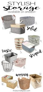 Stylish Storage Baskets and Bins (Amazon Finds)