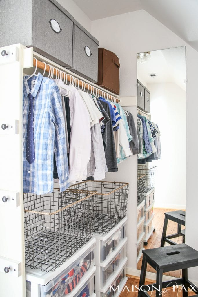 10 Tips for Organizing Kids' Closets- Maison de Pax