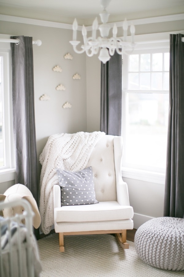 blue and gray baby nursery- maison de pax