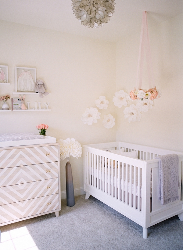 blushnursery with flowers-Maison de Pax