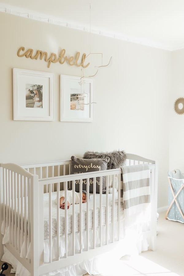 creamy white nursery- maison de pax