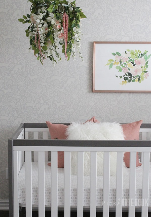 gray and rose nursery- Maison de Pax